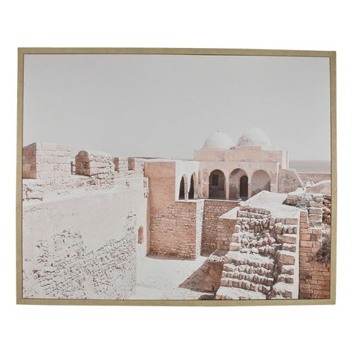 Kasba Print Canvas Oak Frame