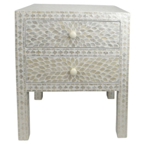 Mother of Pearl Inlay Bedside