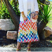 Load image into Gallery viewer, Frankies Geometric Pleated Skirt