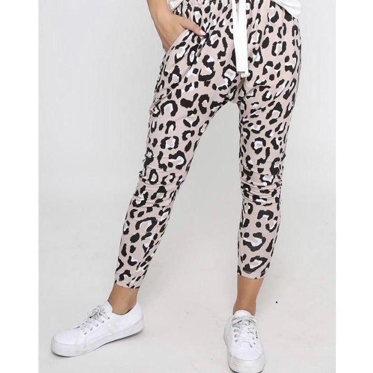 Drop Crotch Pants Leopard