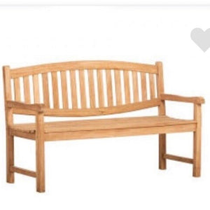 Solid Outdoor Teak Oval Bench