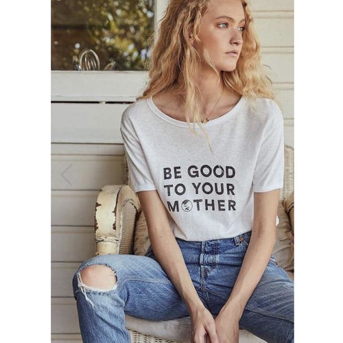 August The Label Be Good Ringer Tee