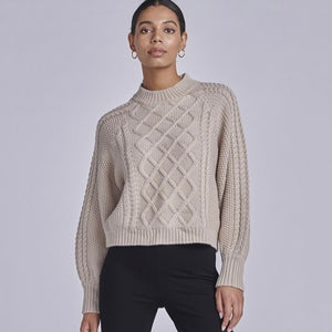 Ena Pelly Marni Cable Knit - Stone