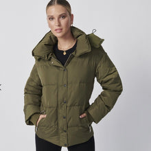 Load image into Gallery viewer, Ena Pelly Utility Puffer Jacket Khaki
