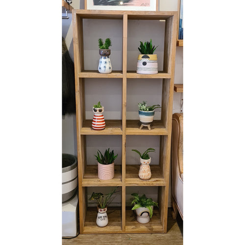 Solid 8 Hole Recycled Teak Bookshelf