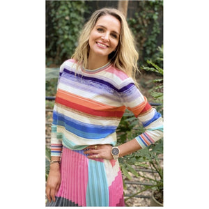 Frankies Spring Striped Knit