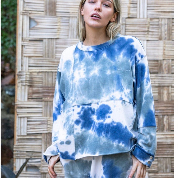 "Barry Made ""Lune"" Tie Dyed Sweater"