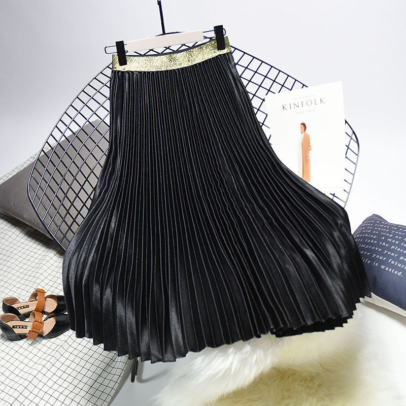 Midnight Pleated Skirt