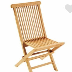 Solid Outdoor Plantation Teak Folding Chair