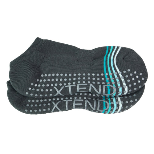 Xtend Grey and Teal Stripe Sticky Sock