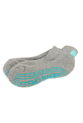 Xtend Barre Grey w/Teal Logo Socks