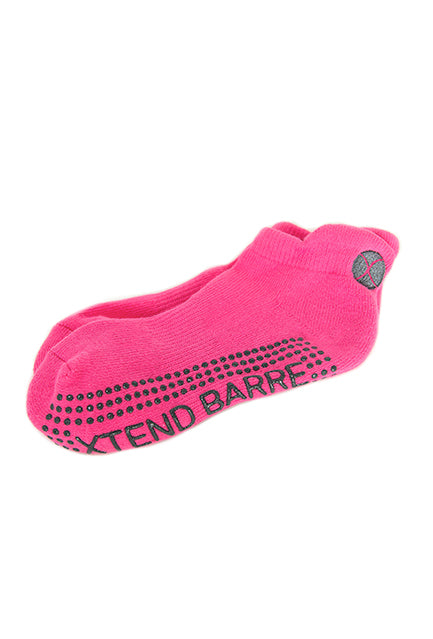 Xtend Barre Pink w/Grey Logo Socks