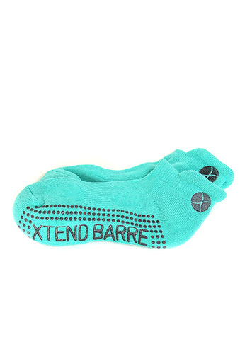 Xtend Barre Teal w/Grey Logo Socks
