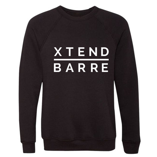 Xtend Crewneck Unisex Fleece Sweatshirt Black