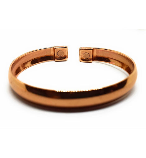 Flattened Curve Design Copper Magnetic Bracelet - The Marvellous Market Stall