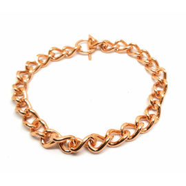 Ladies Non Magnetic Solid Copper Bracelet Ladies Chain Link Healing Arthritis Relief - The Marvellous Market Stall