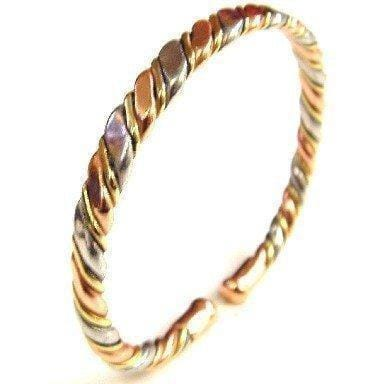 Magnetic Copper with Brass Aluminium Twist Bracelet - The Marvellous Market Stall