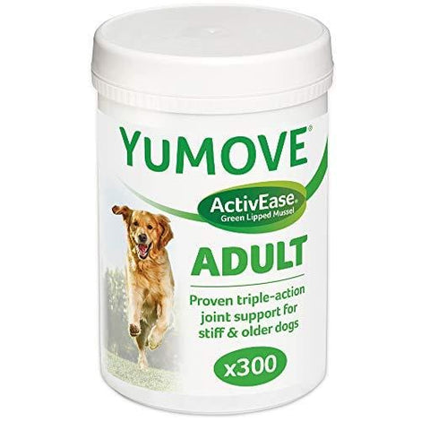 Lintbells Yumove Dog Essential Hip and Joint Supplement for Stiff Dogs Aged 7 to 8, 300 each - The Marvellous Market Stall