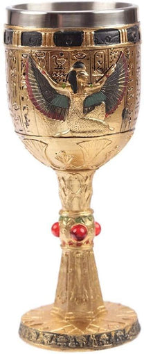 Decorative Egyptian Isis Goblets - Decorative Only! - The Marvellous Market Stall