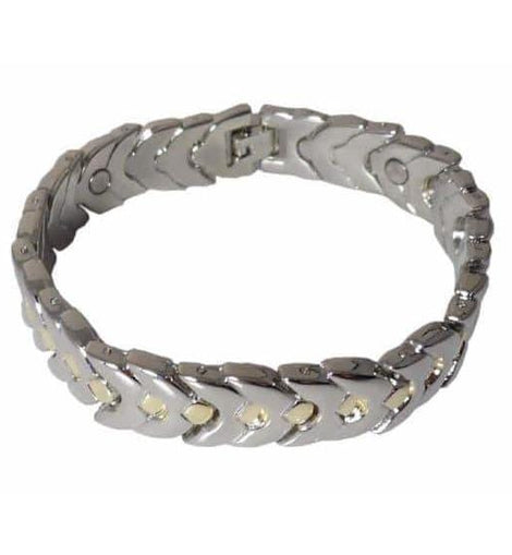 Magnetic Therapy Bracelet Stainless Steel with Gold Dots - The Marvellous Market Stall