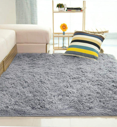 Fluffy Anti-Skid Rug - Grey or Pink - The Marvellous Market Stall