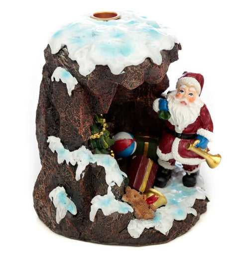 Backflow Incense Burner - Christmas Santa's Grotto - The Marvellous Market Stall