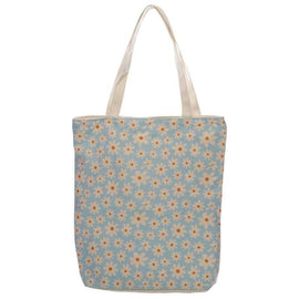 Handy Cotton Zip Up Shopping Bag - Oopsie Daisy Eco Friendly Reusable - The Marvellous Market Stall