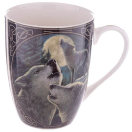 Porcelain Mug - Fantasy Wolf Guardian - The Marvellous Market Stall