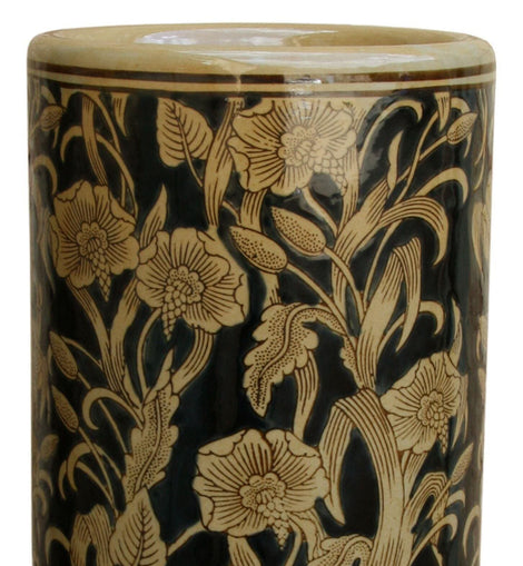 Ceramic Embossed Umbrella Stand, Regal Design - The Marvellous Market Stall