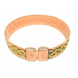 Celtic Magnetic Copper Brass Knot Design Bracelet/Bangle - The Marvellous Market Stall