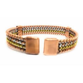Magnetic Copper Therapy Bracelet Bangle Braided 'Woven' Design - The Marvellous Market Stall