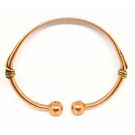 Curved Wave Design Magnetic Therapy Magnetic Copper and Brass Bracelet/Bangle - The Marvellous Market Stall