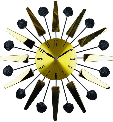 Gold Mirrored Effect Wall Clock 39cm - The Marvellous Market Stall