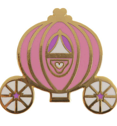 Collectable Enchanted Kingdom Princess Carriage Enamel Pin Badge - The Marvellous Market Stall