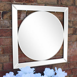 Bevelled Edge Deco Style Mirror 60cm - The Marvellous Market Stall