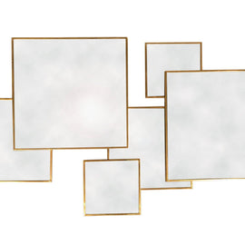 Gold Framed Multi Mirror - Square - The Marvellous Market Stall