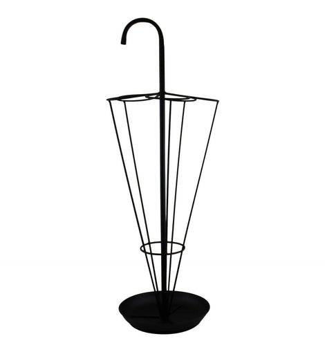 Black Metal Umbrella Stand - The Marvellous Market Stall