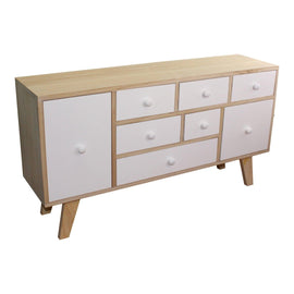 8 Drawer White & Wooden Storage Unit - The Marvellous Market Stall