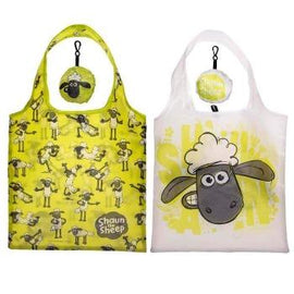 Handy Fold Up Shaun the Sheep Shopping Bag with Holder Gift - The Marvellous Market Stall