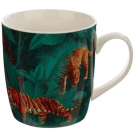 Collectable Porcelain Mug - Big Cat Spots and Stripes - The Marvellous Market Stall
