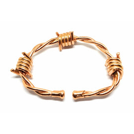 Magnetic Solid Copper Bracelet Barbed Wire Arthritis Healing Therapy Relief - The Marvellous Market Stall