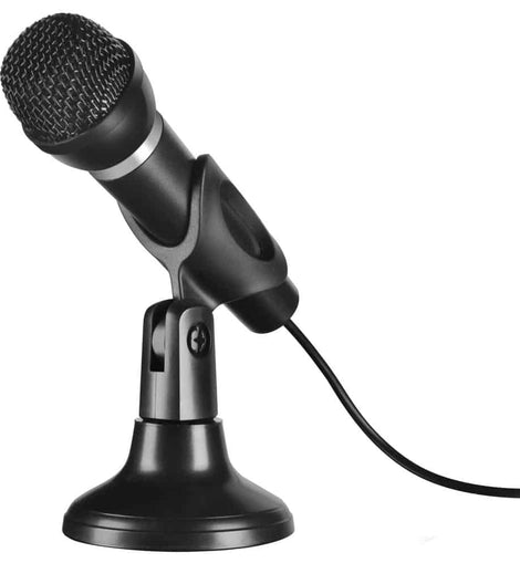 SPEEDLINK Capo Desk & Hand Microphone with 2m Cable, Black (SL-8703-BK) - The Marvellous Market Stall