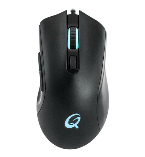 QPAD DX-120 FPS 12000dpi Gaming Mouse with RGB Lighting, USB Braided Cable 1.8m, - The Marvellous Market Stall