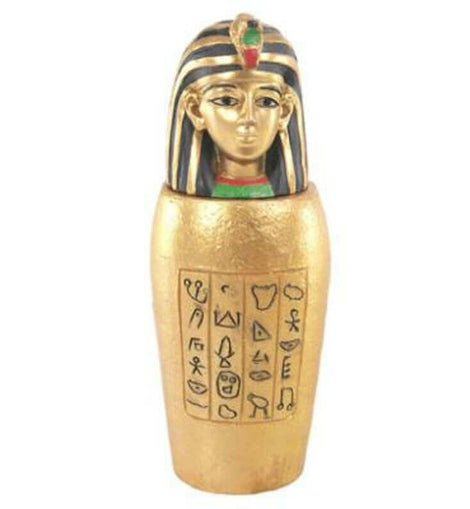 Decorative Gold Egyptian Canopic Jar Trinket Box - The Marvellous Market Stall