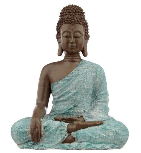 Decorative Turquoise & Brown Buddha Figurine - Love - The Marvellous Market Stall