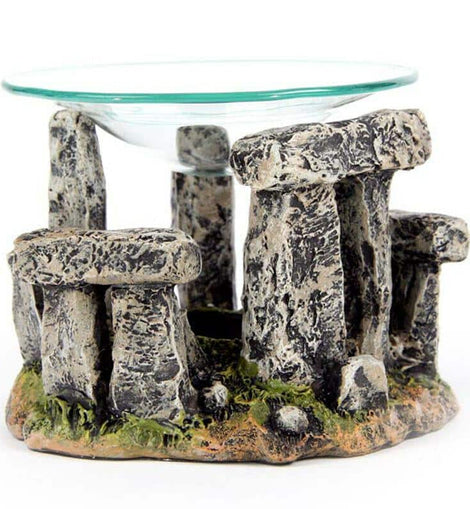 Mystical Stonehenge Design Oil Burner with Glass Dish - The Marvellous Market Stall