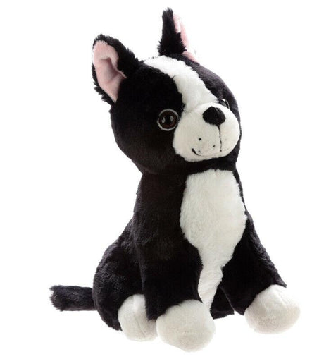 Cute Black and White Dog Plush Door Stop - The Marvellous Market Stall