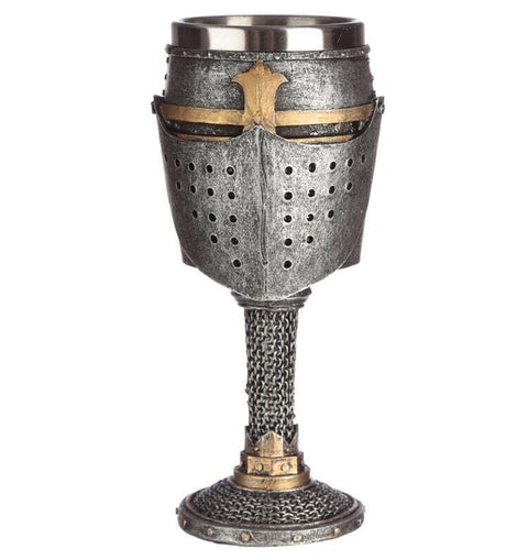 Collectable Decorative Medieval Knight Helmet and Chain Mail Goblet History Gift - The Marvellous Market Stall