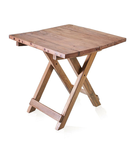 Square Folding Coffee Table Recycled Wood Eco Friendly Home Tea - The Marvellous Market Stall