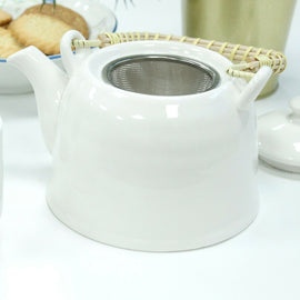 Herbal Tea Pot Set Tea Party Lunch Dinner Cafe Gift - Classic White - The Marvellous Market Stall